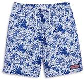 Vineyard Vines Boys' Two Tone Ocean Floral Swim Trunks - Little Kid