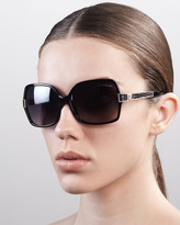 Albizia Square Sunglasses, Black