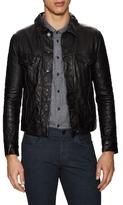 J Brand Reid Leather Slim Jacket