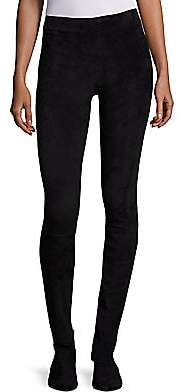 The Row Women's Suede Moto Leggings