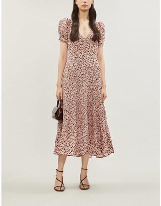 Reformation Cosa leopard-print crepe dress