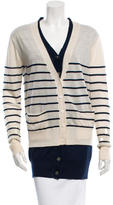 Markus Lupfer Wool Sequin-Accented Cardigan