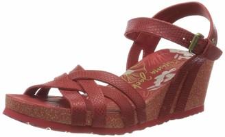 Panama Jack Women's Vera Amazonic Ankle Strap Sandals Black (Negro B2) 6 UK