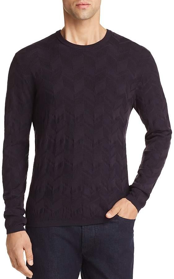 Emporio Armani Chevron Textured Sweater