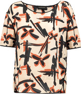 By Malene Birger Onestias silk-trimmed printed crepe top