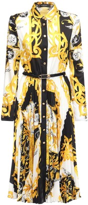 Versace Printed Twill Shirt Dress