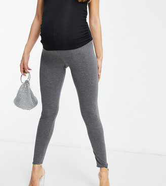 Flounce London Maternity Flounce Maternity over the bump supersoft leggings in grey