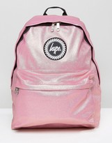 Hype Metallic Pink Pearl Effect Backpack