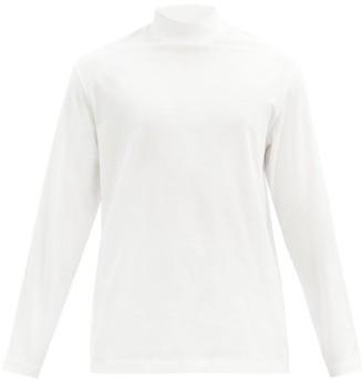 Y-3 Logo-print Cotton Long-sleeved T-shirt - White