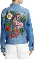 Oscar de la Renta Embroidered Denim Jacket