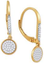 Macy's Diamond Pavé Drop Earrings (1/5 ct. t.w.) in 10k Gold