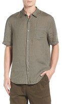 Vince Men's Trim Fit Linen Sport Shirt