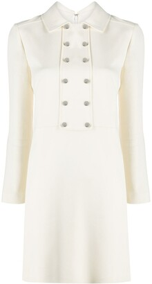 Giambattista Valli White Silk Shirt Dress