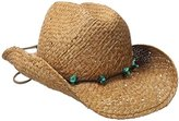 Scala Women's Straw Cowboy Hat