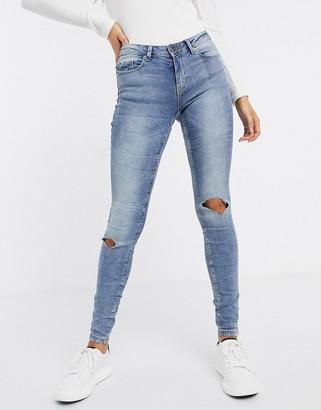 JDY skinny jeans in light blue