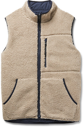 Alex Mill Reversible Padded Sherpa And Shell Gilet