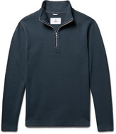 Reigning Champ Perforated Cotton-Blend Half-Zip Sweatshirt