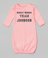 Pink 'Newest Member' Personalized Gown - Infant