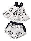 Fheaven Baby Girls Printing Tassel Sleeveless Blackless Top Shirt+Shorts Clothes Outfit Set (6M)