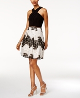 Adrianna Papell Petite Lace Fit & Flare Dress