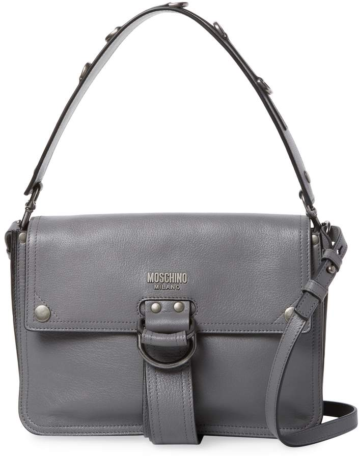 Moschino Women's Leather Snap Buttons Shoulder Bag