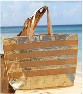 Aspiga Large Sequined Striped Jute Tote