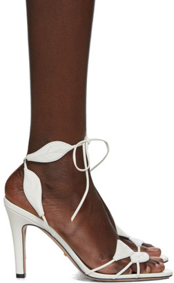 Gucci White Gianta Leave Heeled Sandals