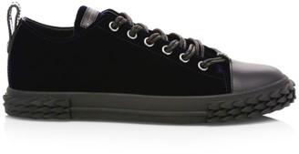 Giuseppe Zanotti Blabber Velvet Low-Top Sneakers