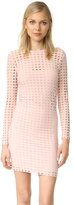 Alexander Wang Jersey Jacquard Fitted Dress