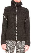 Altuzarra Hand-Knit Cashmere Turtleneck Sweater