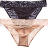 Betsey Johnson Set Of 2 Preeky Bikini Bottom