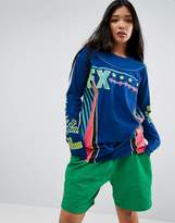Asos T-Shirt with Motocross Print and Super Long sleeve