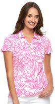 Caribbean Joe Women's Leaf Pique Polo