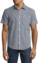 Original Penguin Gingham Short-Sleeve Sport Shirt, Black