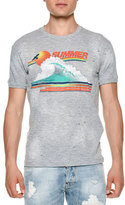 DSQUARED2 Summer Wave Graphic T-Shirt, Dark Gray