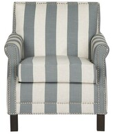 Beachcrest Home Randall Armchair Upholstery: Gray and White