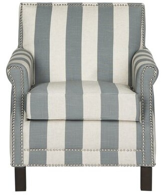 Beachcrest Home Randall Armchair Fabric: Gray and White Polyester Blend