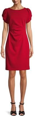 Karl Lagerfeld Paris Puff-Sleeve Sheath Dress