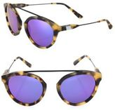 Westward Leaning Flower 3 51MM Mirrored Aviator Sunglasses