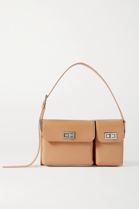 BY FAR Billy Glossed-leather Shoulder Bag - Cream