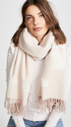 Tory Burch Solid Logo Oblong Scarf