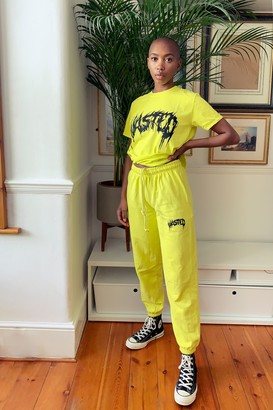 Topshop Yellow Wasted Sweatpants