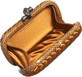 Bottega Veneta Intrecciato Satin/Snakeskin Knot Clutch