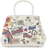 Anya Hindmarch Ebury small stickers leather tote