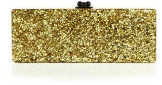 Edie Parker Flavia Glitter Acrylic Clutch