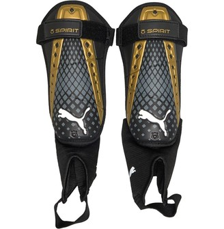 Puma King Spirit Shin Guards With Ankle Socks Black/Gold