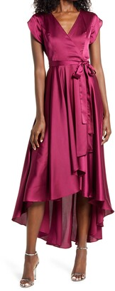 Lulus Fallen For You Satin High/Low Dress