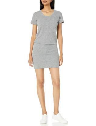 Monrow Women's Granite Thermal Pocket T Dress Medium