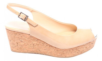 Jimmy Choo Beige Leather Sandals
