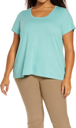 Eileen Fisher U-Neck Organic Cotton T-Shirt